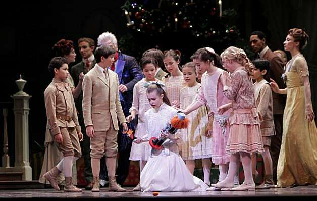 Young Claire cries that her new toy the Nutcracker is broken during the San Francisco Ballet Company production, Thursday Dec. 9, 2010, at the War Memorial House in San Francisco, Calif. Photo: Lacy Atkins, The Chronicle