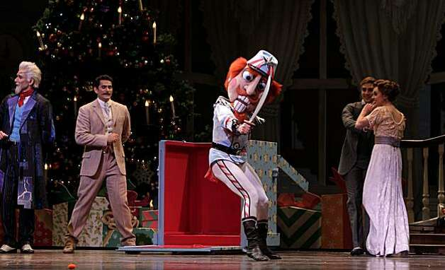 James Sofranko dances as  the Nutcracker in the first scenes of the  San Francisco Ballet Company production of the Nutcracker during a dress rehearsal, Thursday Dec. 9, 2010, at the War Memorial House in San Francisco, Calif. Photo: Lacy Atkins, The Chronicle