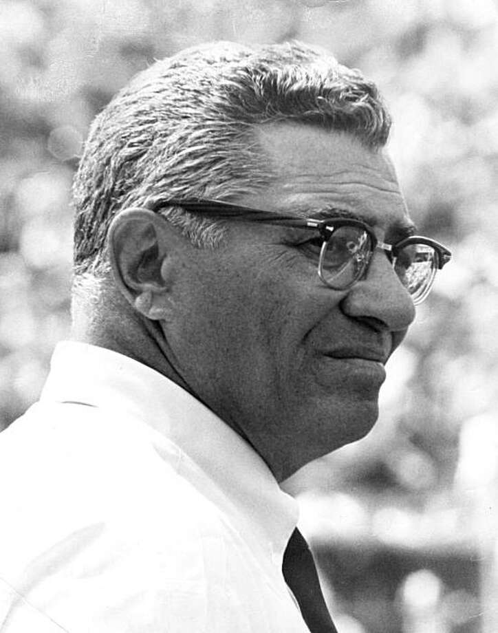 Vince Lombardi, Hall of Fame head coach, during his first game as the head coach of the Washington Redskins.  A 26-20 victory over the New Orleans Saints on September 21, 1969 at Tulane Stadium in New Orleans, Louisiana. (Photo by Paul  Fine/Getty Images) Photo: -