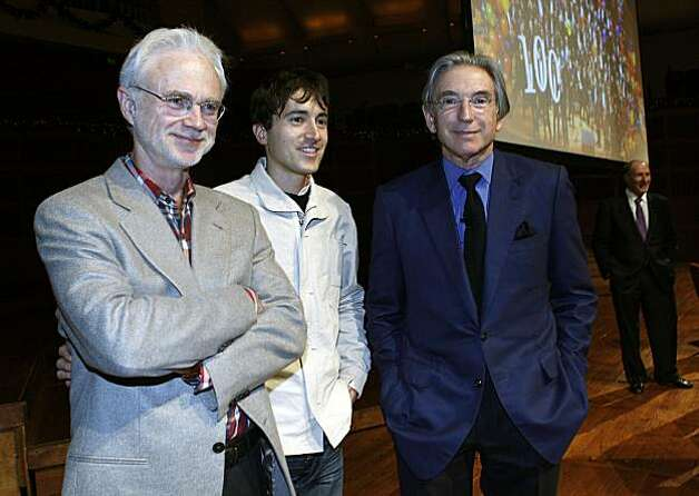 Composers John Adams, Mason Bates, and Michael Tilson Thomas participating in next season's 100th anniversary plans at Davies Symphony Hall  in San Francisco , Calif., on Monday, December , 2010. Photo: Liz Hafalia, The Chronicle