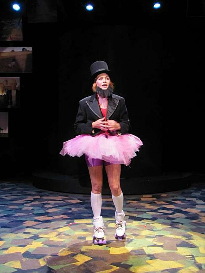 "Alika Spencer is one of the many Abes in Aaron Loeb's ""Abraham Lincoln's Big Gay Dance Party"" at City Lights Theater Photo: Kit Wilder"