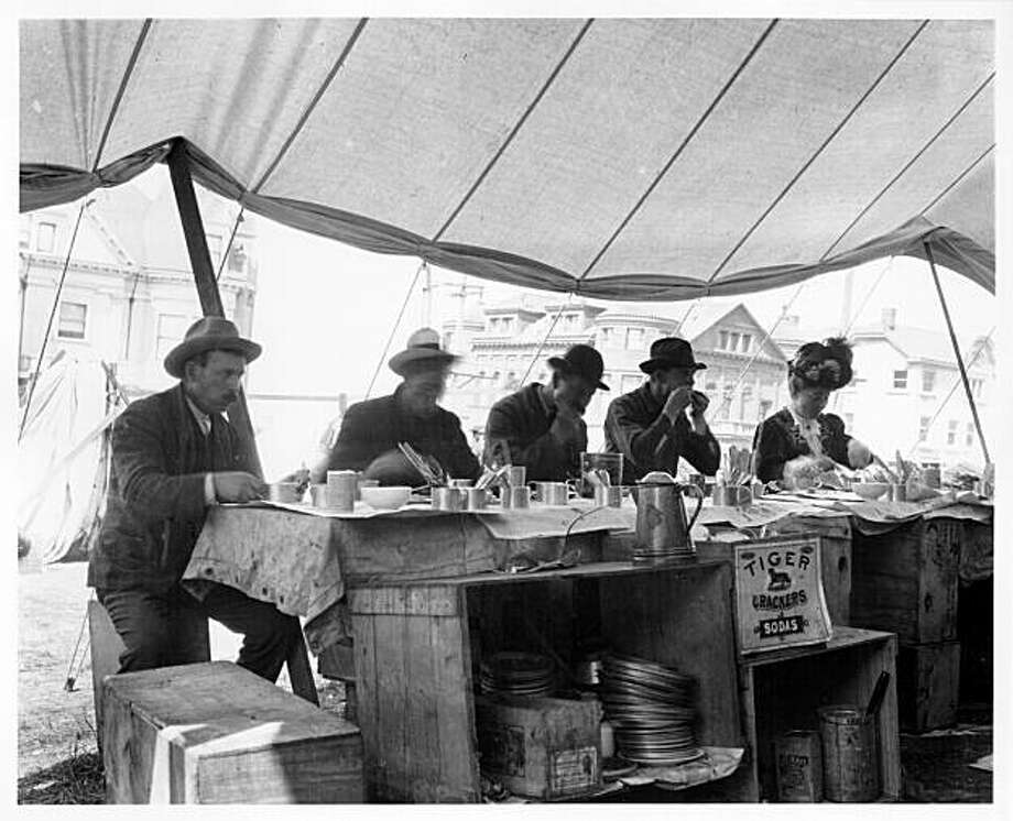 Refugee Camp Restaurant, 1906, San Francisco Courtesy of SF History Center, SF Public Library