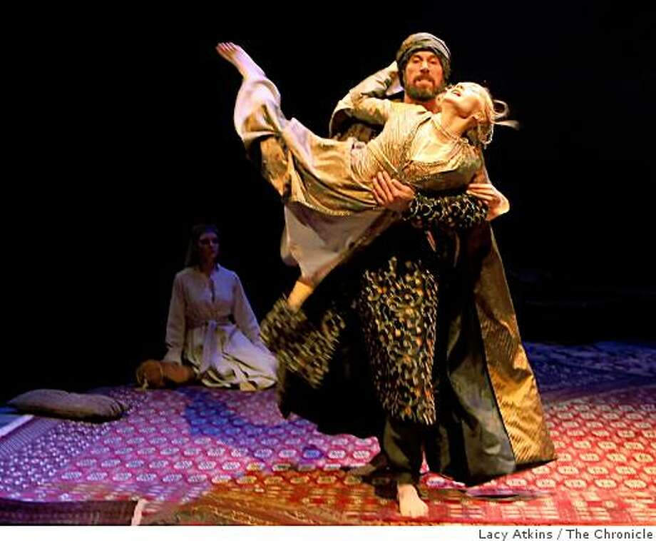 "King Shahryar played by Ryan Artzberger takes Scheherezade played by Sofia Jean Gomez in the dress rehearsal of  Mary Zimmerman's ""Arabian Nights"" at Berkeley Repertory Theatre, Wednesday Nov. 12, 2008, in Berkeley, Calif. Photo: Lacy Atkins, The Chronicle"
