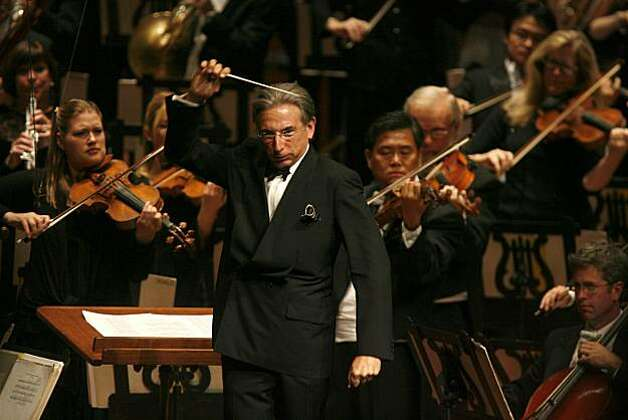 Michael Tilson Thomas conducts during The Opening Gala at Davies Symphony Hall on Wednesday September 3, 2008 in San Francisco, Calif. Photo: Lea Suzuki, The Chronicle