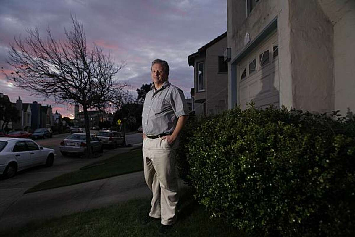 Homeowner Nathan Miller is seen in front of his home where he wanted to install a wind turbine on Thursday, December 2, 2010 in San Francisco, Calif.