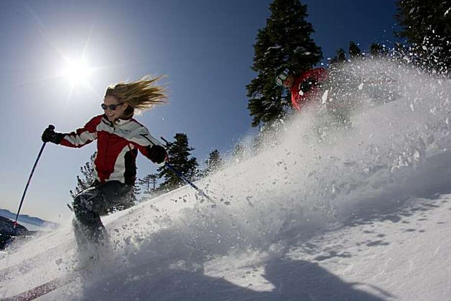 Skiing at Squaw Valley USA. Photo: Jeff Engerbretson, Squaw Valley USA