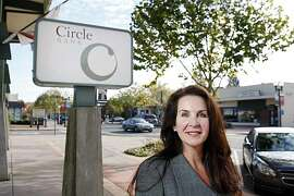 Kimberly A. Kaselionis, President and CEO of Circle Bank, a community bank, posses outside of her office on Wednesday, December 1, 2010, Novato, Calif.