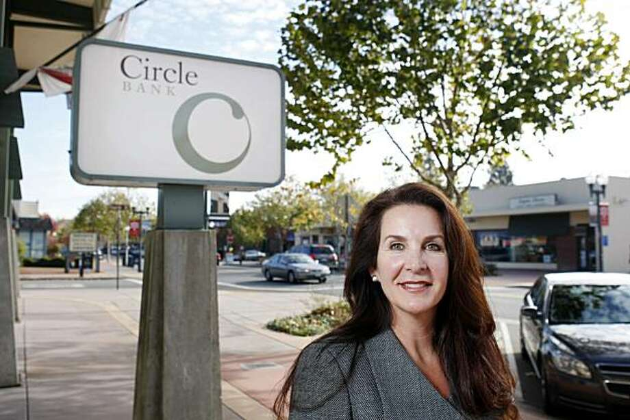 Kimberly A. Kaselionis, President and CEO of Circle Bank, a community bank, posses outside of her office on Wednesday, December 1, 2010, Novato, Calif. Photo: Adm Golub, The Chronicle