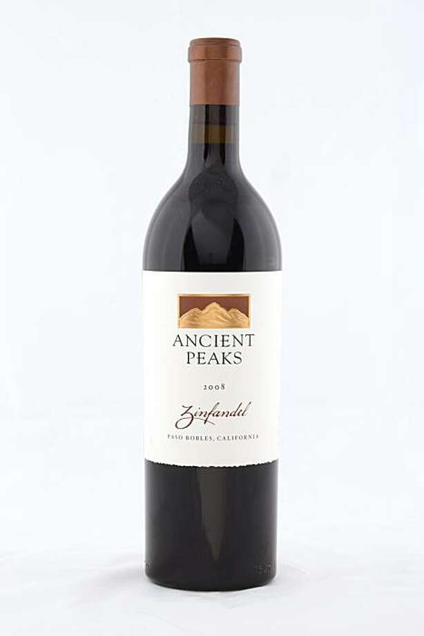 2008 Ancient Peaks Paso Robles Zinfandel as seen in San Francisco, California, on November 17, 2010. Photo: Craig Lee, Special To The Chronicle