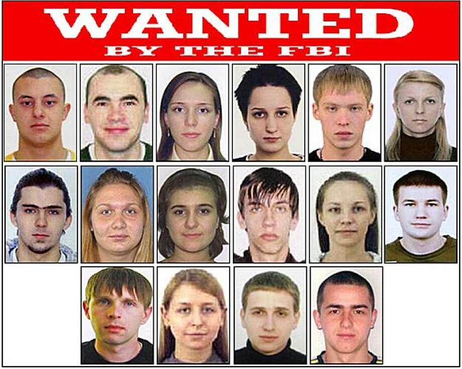 "This poster released by the FBI shows photos of individuals wanted by the FBI and shows Eastern European Cyber Criminals, wanted on a variety of federal charges stemming from criminal activities including money laundering, bank fraud, passport fraud, andidentity theft in New York. Complaints were issued by the United States District Court, Southern District of New York, in September of 2010. The court records of Operation Trident Breach reveal a surprise: For all the high-tech tools and tactics employedin these computer crimes, platoons of low-level human foot soldiers, known as ""money mules,"" are the indispensable cogs in the cybercriminals' money machine. Photo: AP"