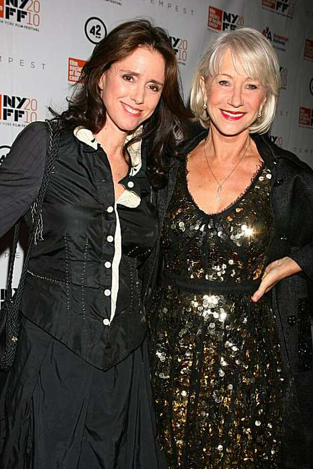 """The Tempest"" director Julie Taymor and star Helen Mirren at the 48th New York Film Festival Centerpiece Selection North American Premiere of the film. Photo: Dave Allocca"