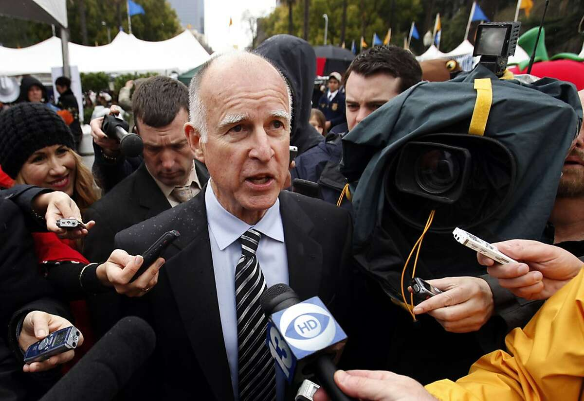 Gov. Jerry Brown said he was still trying to reach a compromise with Republican lawmakers to put a tax extension on a special election ballot, while talking to reporters at the Capitol in Sacramento, Calif., Wednesday March 23, 2011.