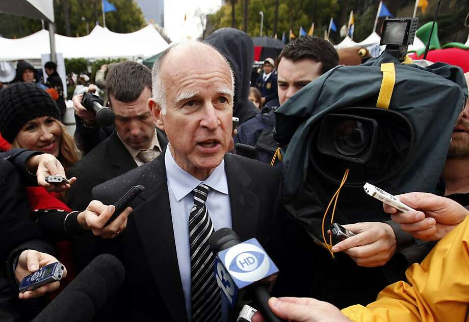 Gov. Jerry Brown said he was still trying to reach a compromise with Republican lawmakers to put a tax extension on a special election ballot, while talking to reporters at the Capitol in Sacramento,  Calif., Wednesday March 23, 2011. Photo: Rich Pedroncelli, AP