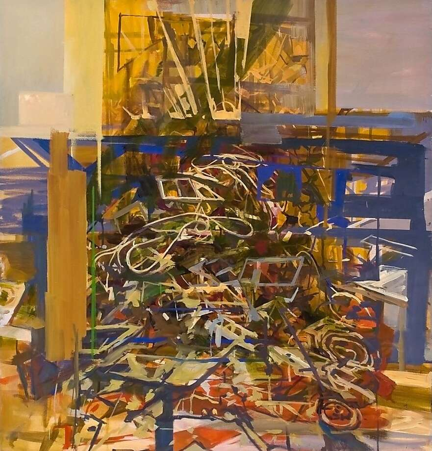 """""""Crossing"""" (2011) oil on canvas by Marie Thibeault Photo: Unknown, George Lawson Gallery"""