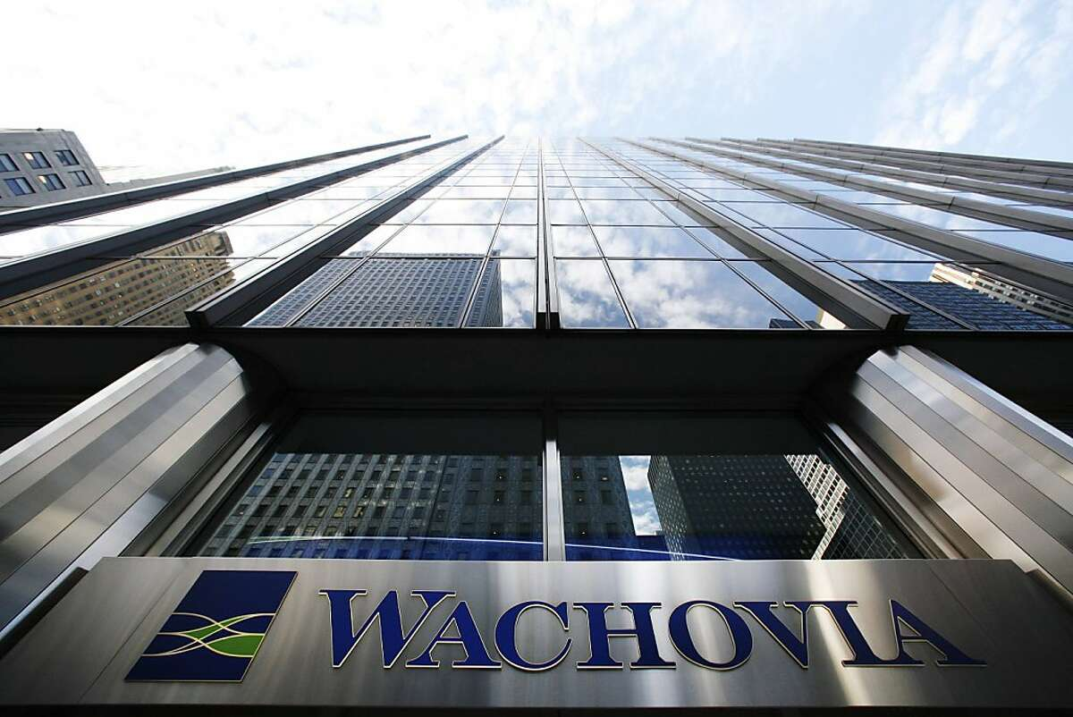 A Wachovia Bank sign is seen at a branch in New York October 8, 2008. Citigroup, Wells Fargo, and the Federal Reserve are negotiating over the future of Wachovia Corp, a bank hobbled by the credit crisis but with a valuable network of branches. REUTERS/Lucas Jackson (UNITED STATES)