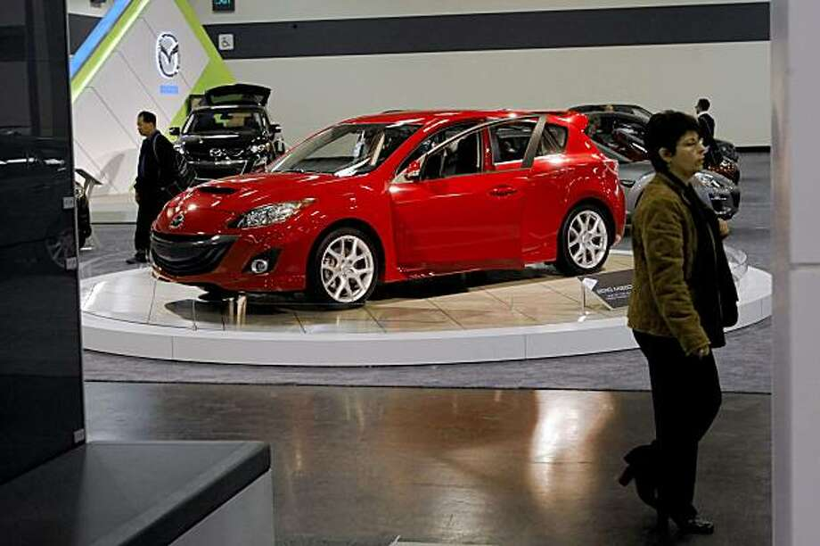 2010 Mazdaspeed3 on display at the auto show. The San Francisco International Auto Show starts at Moscone Center on Thursday, November 26, 2009, and attracts the top displays from the worldÕs major manufacturers. It is the largest show of any kind held in northern California. Photo: Carlos Avila Gonzalez, The Chronicle