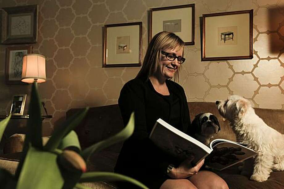 At Home with designer Melanie Coddington, at her San Francisco, Calif. home on Wednesday Nov. 24, 2010. With her dogs Lola and Parker. Photo: Michael Macor, The Chronicle