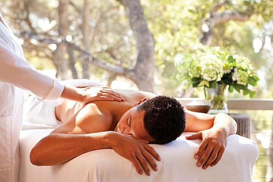 Massages are among the most popular treatments at Spa Aiyana at Carmel Valley Ranch, which employs florals, herbs and botanicals grown on site for various spa serivces. Photo: Paul Dyer