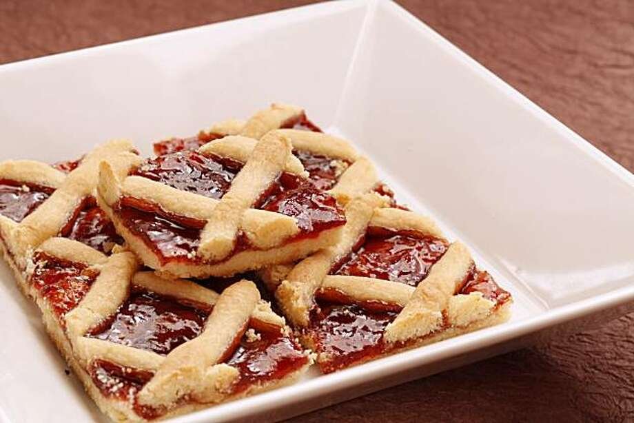 Linzertorte bars as seen in San Francisco, Calif., on November 23, 2010. Photo: Craig Lee, Special To The Chronicle