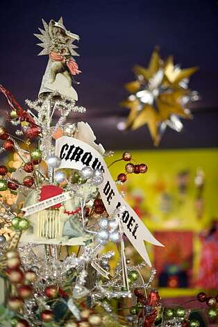 "Christmas decorations like this ""Cirque de Noel"" tree can been seen throughout the store Tessuti Zoo in Pacific Grove, Calif., on Wednesday, November 17, 2010. Photo: Chad Ziemendorf, Special To The Chronicle"
