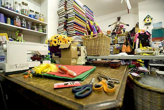The back room of the store Tessuti Zoo is seen in Pacific Grove, Calif., on Wednesday, November 17, 2010.  This room is where all of their creations come to life. Photo: Chad Ziemendorf, Special To The Chronicle