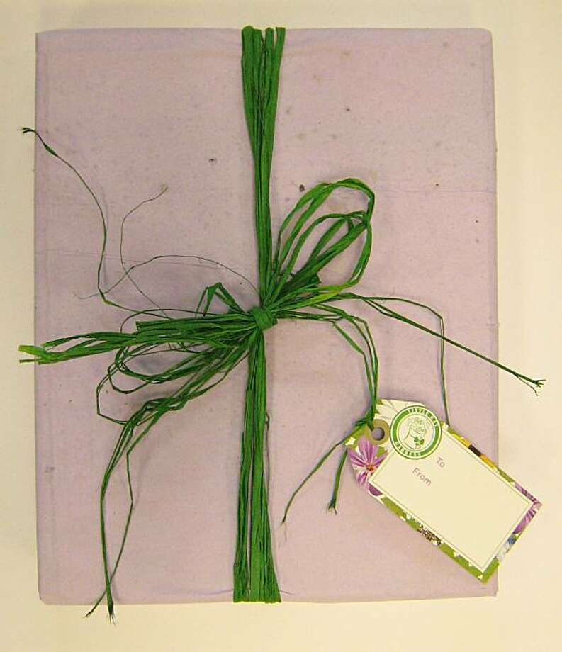 Gift Wrap that Grows is made of 100 percent recycled paper that contains wildflower seeds. Photo: Erick Wong