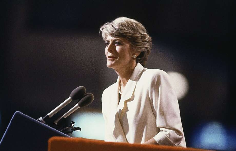 Geraldine Ferraro at the convention, July 19, 1984 in San Francisco, California. (AP Photo) Photo: ASSOCIATED PRESS