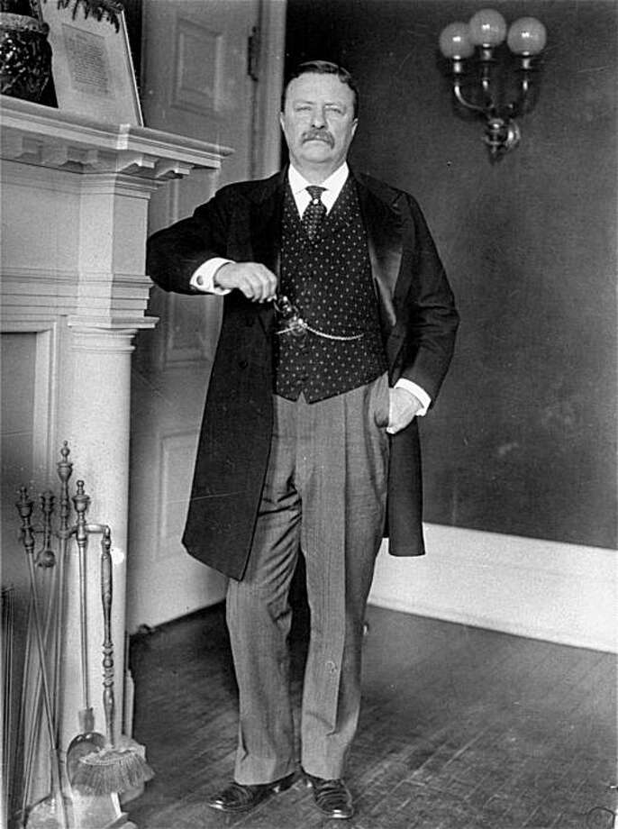 ** FILE ** In this 1908 file photo, President Theodore Roosevelt stands in the White House.      (AP Photo) Photo: AP