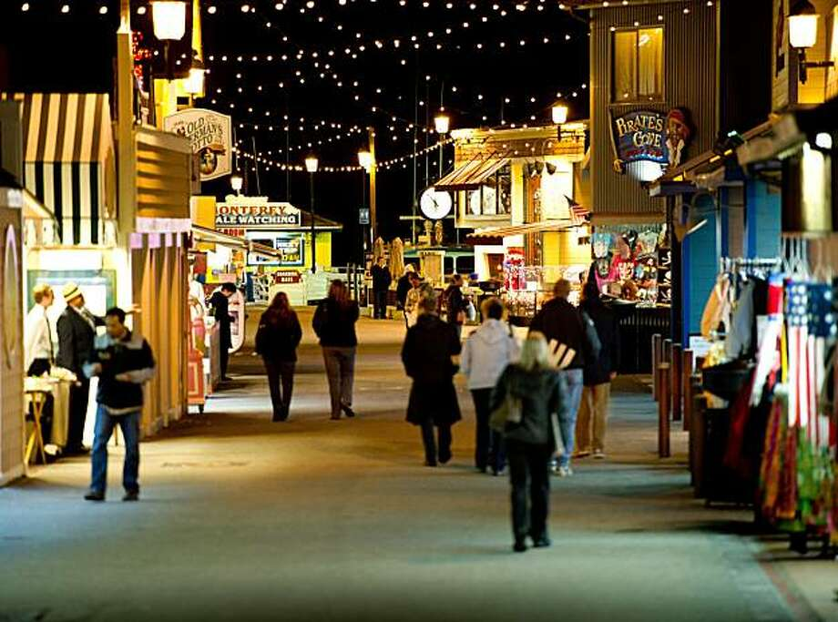 The holiday scene is captured on November 30, 2010, at Fisherman's Wharf in Monterey, Calif. Photo: Chad Ziemendorf, Special To The Chronicle