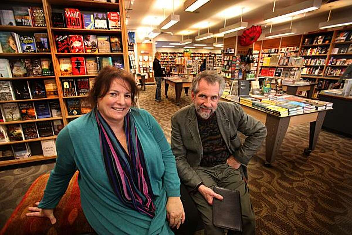 Owners of Books Inc. Michael and Margie Scott Tucker at one of their San Francisco stores on Van Ness Ave. on Monday, February 15, 2010. The bookstore is 150 years old
