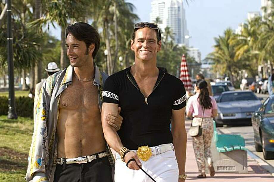 Jim Carrey as Steven Russell and Rodrigo Santoro as Jimmy Kemple in I LOVE YOU PHILLIP MORRIS, directed by Glenn Ficarra and John Requa Photo: Patti Perret, Roadside Attractions