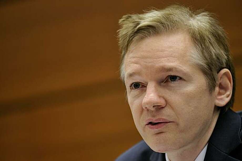 (FILES) -- A file photo taken on November 4, 2010 shows Wikileaks founder Julian Assange attending a press conference at the Geneva Press Club in Geneva.  The global police agency INTERPOL said on December 1, 2010 it had alerted member states to arrest WikiLeaks' founder Julian Assange on suspicion of rape on the basis of a Swedish arrest warrant. Photo: Fabrice Coffrini, AFP/Getty Images