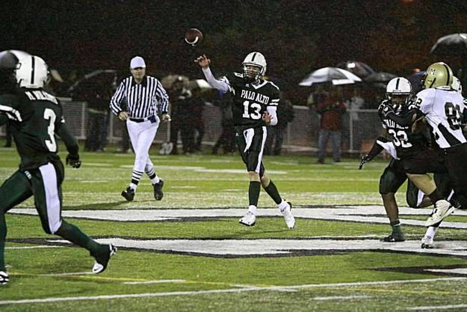 Palo Alto High quarterback Christoph Bono has led his team to the Central Coast Section open division championship game against Valley Christian. Photo: Courtesy Bono Family