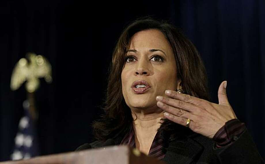 California's newly elected attorney general Kamala Harris speaks at a news conference Delancey House in San Francisco, Tuesday, Nov. 30, 2010. Republican Steve Cooley conceded the California attorney general's race to Democrat Harris last week, giving Democrats a sweep of all statewide offices and ushering in the first woman and first minority elected to the post. Photo: Jeff Chiu, AP