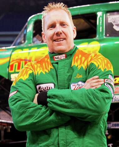 Monster Jam driver Jim Koehler with his truck, The Avenger Photo: Courtesy Feld Entertainment