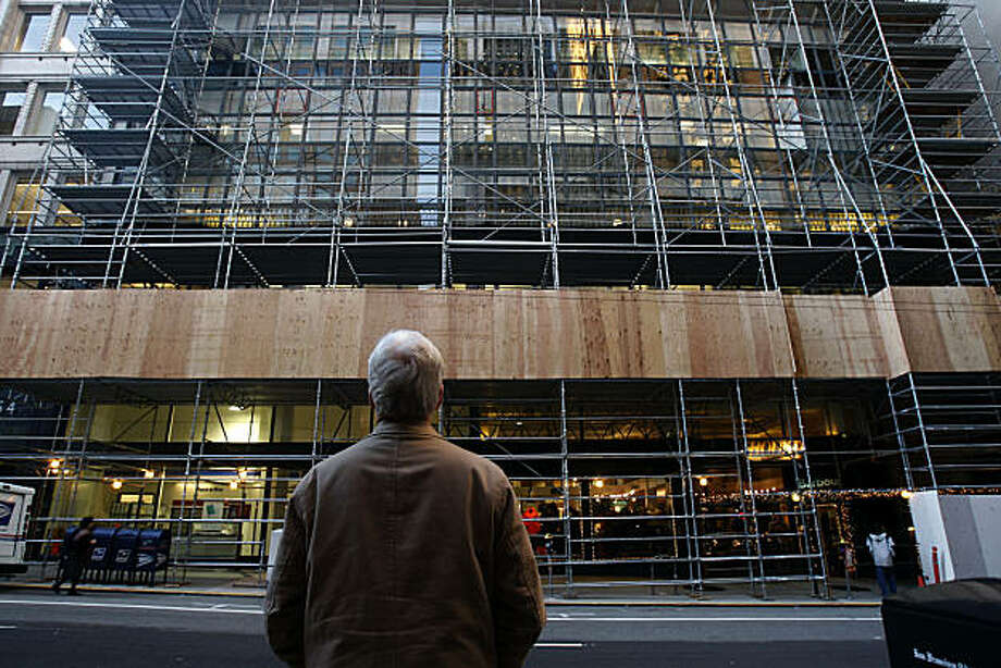 Project manager Bruce R. Albert overlooking the Hallidie building at 130 Sutter Street , which will be going through structural renovation in San Francisco, Calif., on Monday, November 29, 2010. Photo: Liz Hafalia, The Chronicle