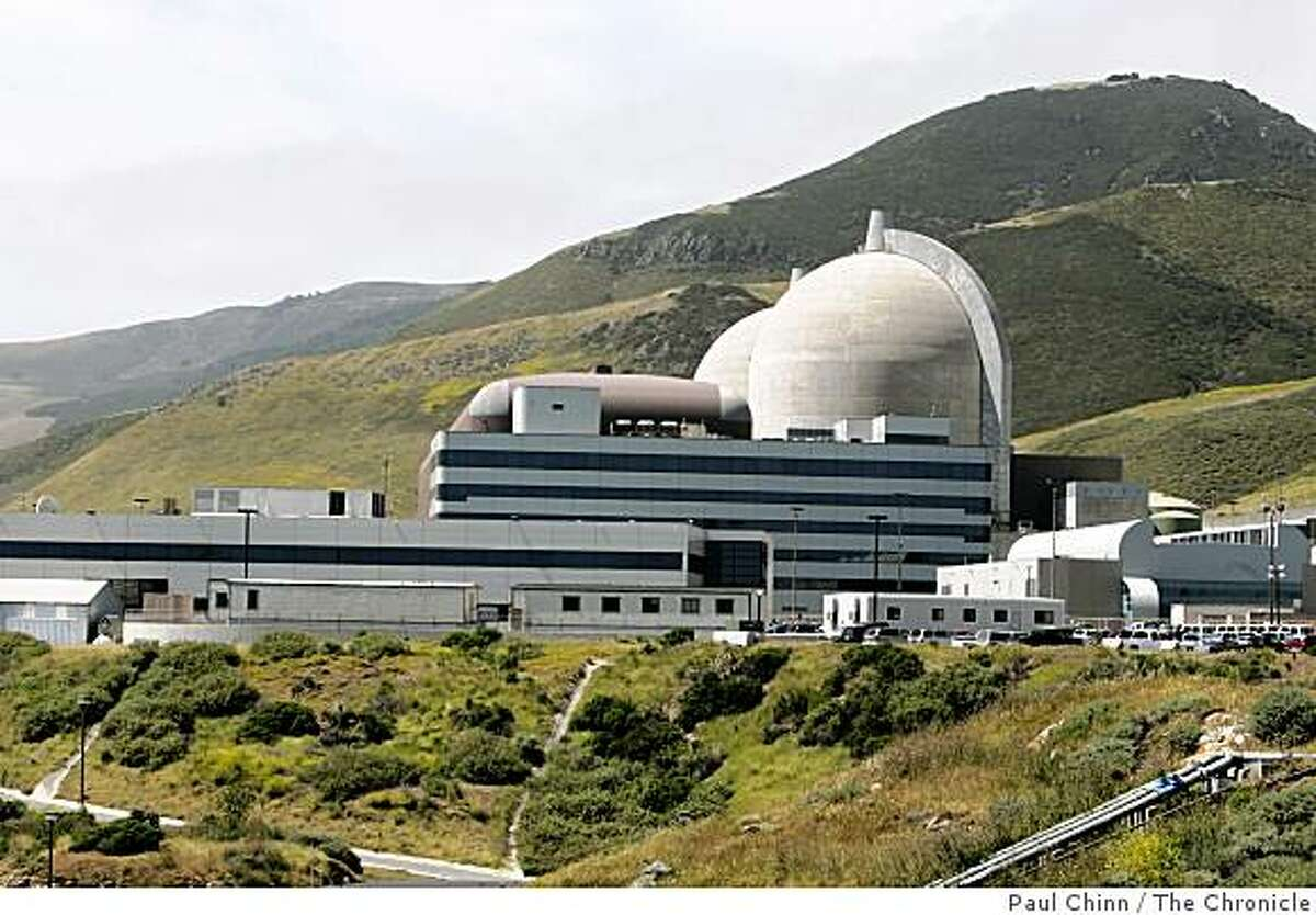 PG&E's Diablo Canyon nuclear power plant in Avila Beach, Calif. on Friday, May 26, 2006. The two spent fuel storage pools are nearing its capacity of 2,648 cells so plant officials are constructing a dry cask storage area to hold future radioactive fuel cell waste. PAUL CHINN/The Chronicle