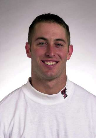 Mug shot of Kliff Kingsbury, Texas Tech, August 2001. courtesy of Texas Tech sports information