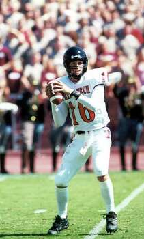 SPORTS  -  PHOTO IS 6 INCHES DEEP-    action photo of Texas Tech junior quarterback Kliff Kingsbury.  It comes to us courtesy of Texas Tech sports information.   undated photo via e-mail. Photo: TEXAS TECH UNIVERSITY / TEXAS TECH UNIVERSITY