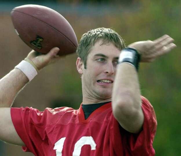 Texas Tech quarterback Kliff Kingsbury throws a pass during practice in San Antonio, Thursday aftern