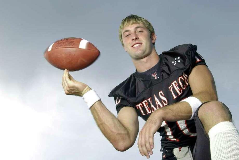 Texas Tech quarterback Kliff Kingsbury.  Special to Express-News / Sean Meyers Photo: Sean Meyers, Sean Meyers Photography / Photogator: Sean Meyers Photography