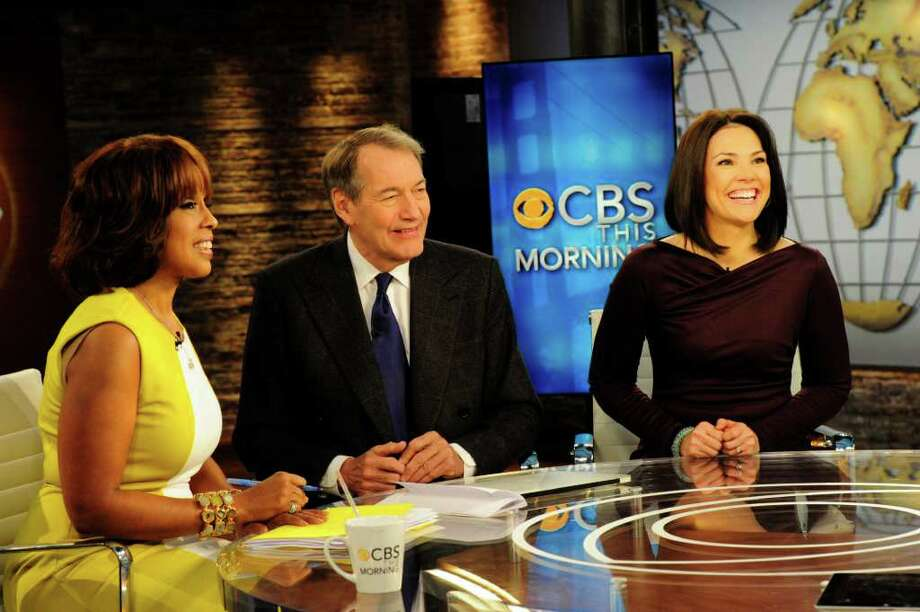 "Gayle King, from left, Charlie Rose and Erica Hill anchor ""CBS This Morning."" Photo: CBS /  ©2012 CBS BROADCASTING INC. ALL RIGHTS RESERVED"