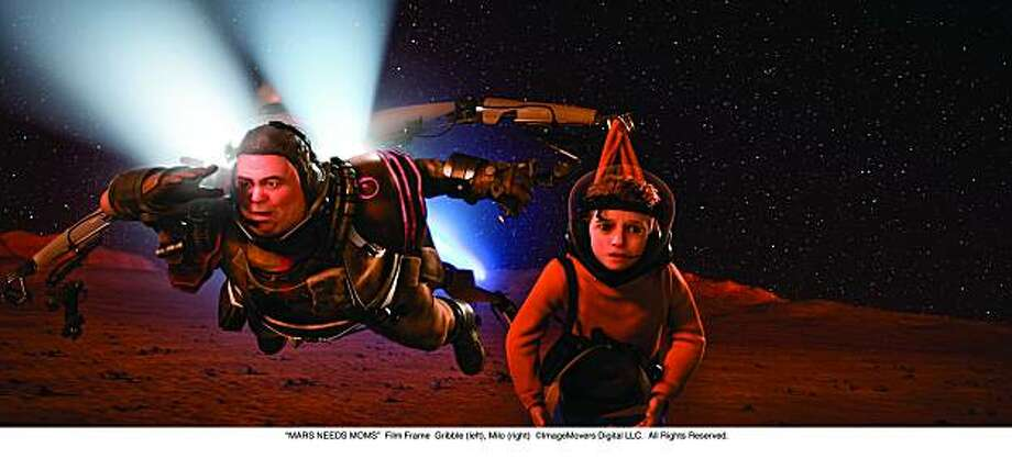 """MARS NEEDS MOMS"" Gribble (left), Milo (right) Photo: Courtesy Of Walt Disney Films"