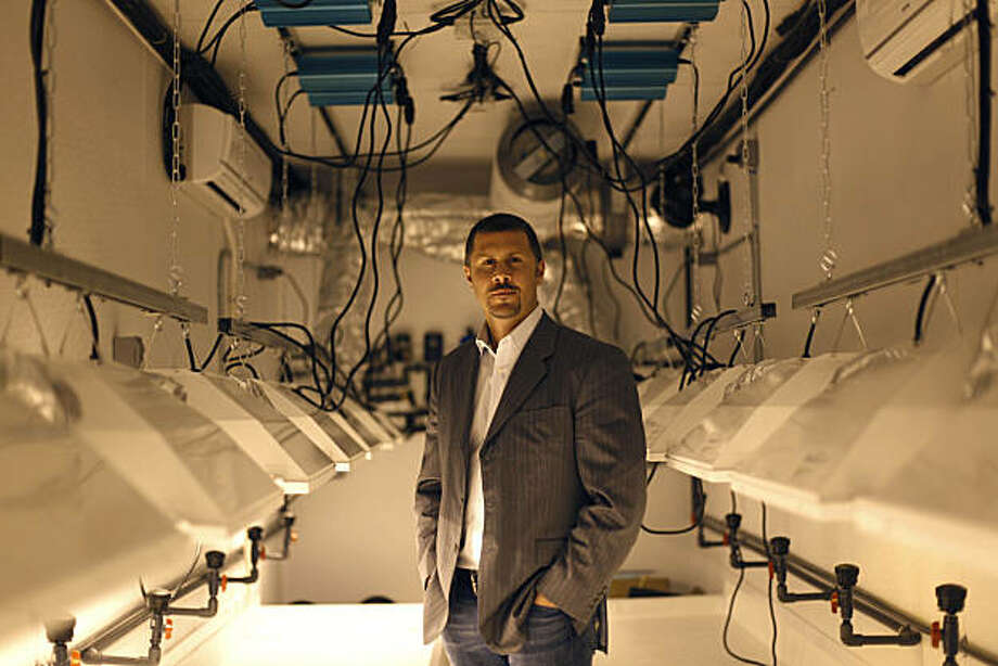 Derek Peterson, CEO/President GrowOp Technology Ltd. stands in a  trailer being constructed into a Big Bud OG on March 8, 2011 in Oakland, California. Photo: Lea Suzuki, The Chronicle