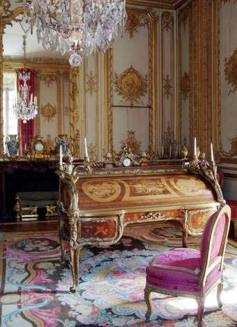 This undated photo provided Tuesday by the Chateau de Versailles shows desk that belonged to France's 18th century King Louis XV . For 67 years, a message from Nazi-occupied France remained hidden in a secret drawer of the desk. The letter, released Tuesday by the Chateau of Versailles, details restoration work on the desk during the war. The restorer says he wrote the note as he finished the work _ and just as Paris was being liberated from the Nazis in 1944. (AP Photo/Christian Milet; Chateau de Versailles) Photo: Christian Milet, AP / CHATEAU DE VERSAILLES