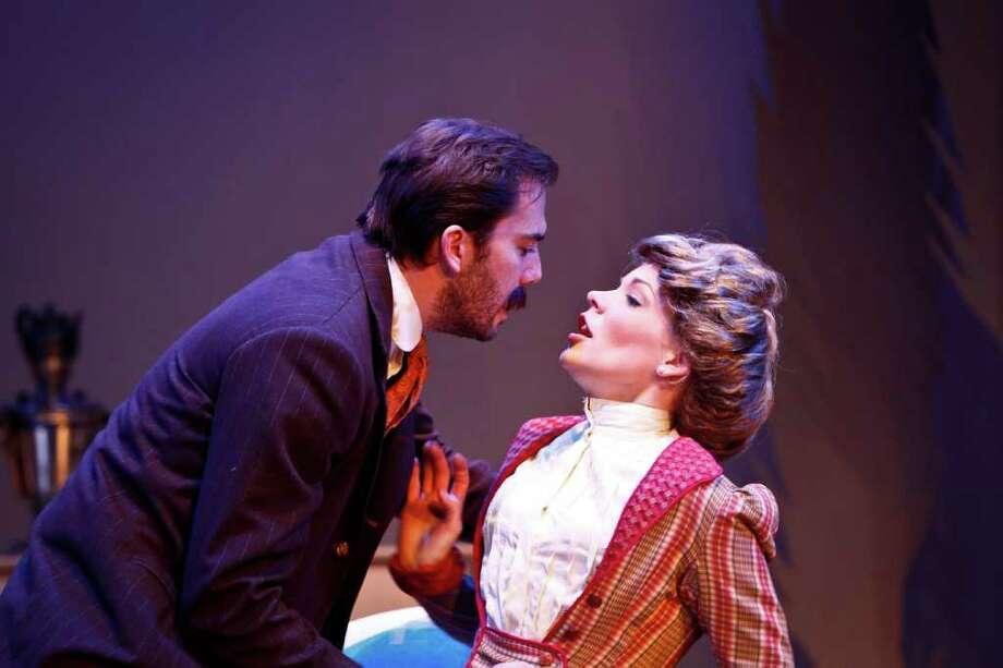 David Matranga stars as Astrov and Tracie Thomason plays Yelena in Classical Theatre Company's production of Chekhov's Uncle Vanya. Photo: Michael Paulsen / © 2011 Houston Chronicle