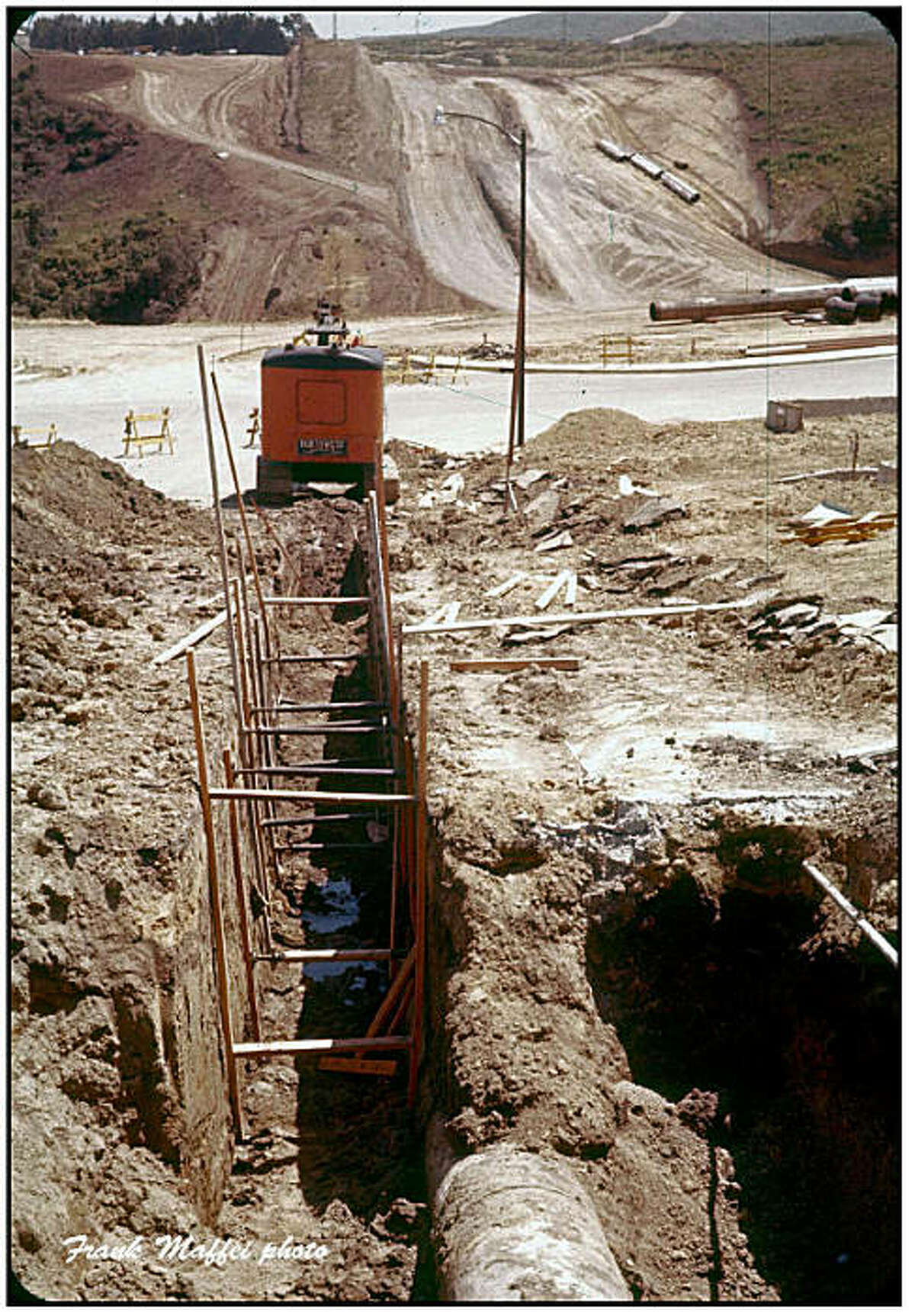 Undated photo of installation of the San Bruno pipeline. Attributed to Frank Maffei, a former Pacific Gas and Electric Co. employee. (He's still alive.) Contained in National Transportation Safety Board document release today. http://www.ntsb.gov/Dockets/PipeLine/DCA10MP008/459127.pdf
