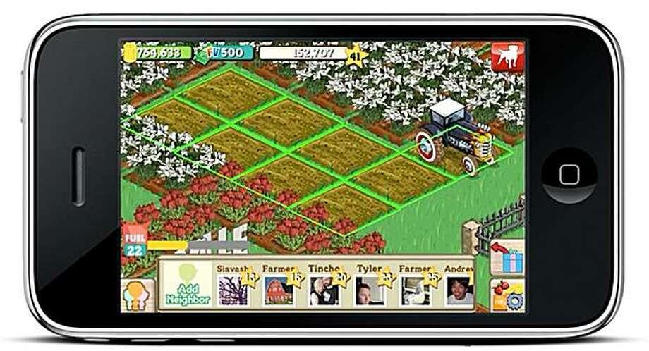 Farmville ap for the iphone. Photo: Courtesy, Zynga.org
