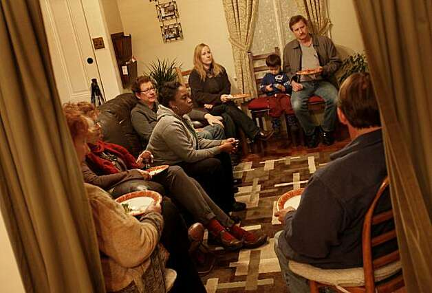 Neighbors of the Kentucky Street Watch Owls meet to discuss strategy for keeping their neighborhood safe. The citizens of Vallejo, Calif., have formed watch groups to combat an increase in prostitution in their neighborhoods since the city declared bankruptcy and the police force was cut. Photo: Brant Ward, The Chronicle