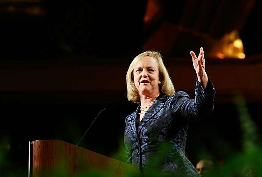 UNIVERSAL CITY, CA - NOVEMBER 02:  California Republican gubernatorial candidate and former eBay CEO Meg Whitman concedes the Governor's race to California Attorney General and Democratic candidate Jerry Brown during a campaign party on November 2, 2010 in Universal City, California. California Attorney General and Democratic candidate Jerry Brown gained victory over Former eBay CEO and Republican candidate Meg Whitman for the Governor's seat, while U.S. Sen. Barbara Boxer (D-CA) declared victory despiteopponent Republican senatorial candidate and former head of Hewlett-Packard Carly Fiorina refusing to concede their tight senate race. Photo: Kevork Djansezian, Getty Images